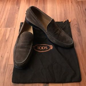 TODS brown suede shoes
